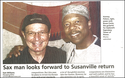 """Sax Man Looks forward to Susanville Return"""
