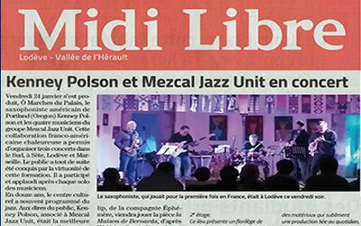 Kenney Poison et Mezcal Jazz Unit en concert